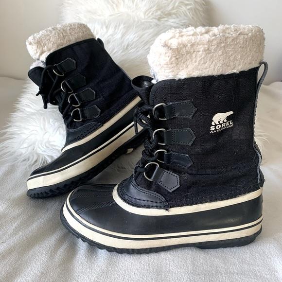 Sorel Black Waterproof Winter Boots